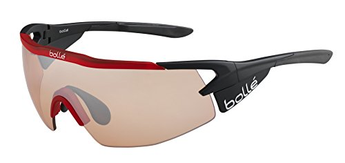 Bolle Aeromax Sunglasses Matte Black/Translucent Red, Light - Sunglasses Spanish