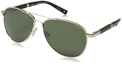 Polaroid Sunglasses Pld2000s Polarized Aviator Sunglasses, Gold, 58 - Sunglasses Polaroid Aviator