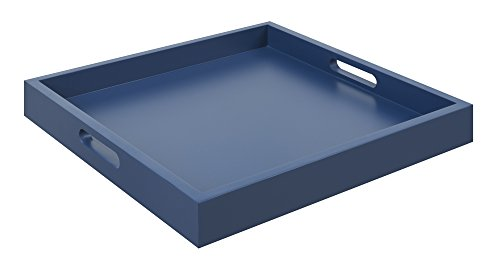 Convenience Concepts Palm Beach Serving Tray, Blue (Corner Country Console Casual)