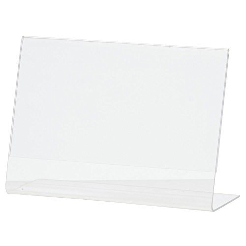 "Acrylic Sign Holder with Slant Back Clear Acrylic Horizontal Picture Frame Ad Holder - 5 1/2""L x 4 1/2""H"