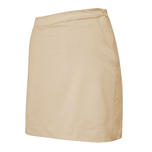 Monterey Club Ladies Raglan Plain Skort #4808 (Khaki, Medium)