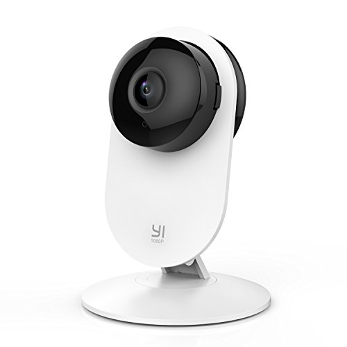 YI 1080p Home Camera, Indoor 2.4G IP Security Surveillance System with Night Vision for Home/Office/Baby/Nanny/Pet Monitor with iOS, Android App - Cloud Service Available
