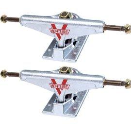 Venture Polished Low Skateboard Trucks - 5.25'' Hanger 8'' Axle (Set of 2) by Venture