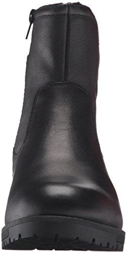 Clarks Womens Faralyn Star Wp Boot In Pelle Nera Impermeabile