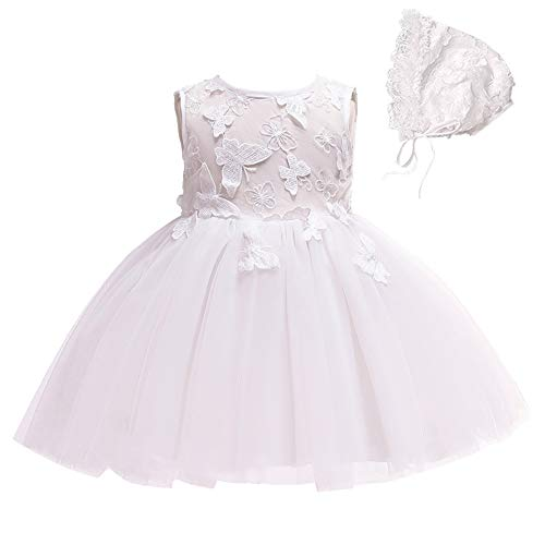Coozy Baby Girls Dress Infant Princess Christening Baptism Party Birthday Formal Dress (Ivory (Style 5), 12M/12-15months)