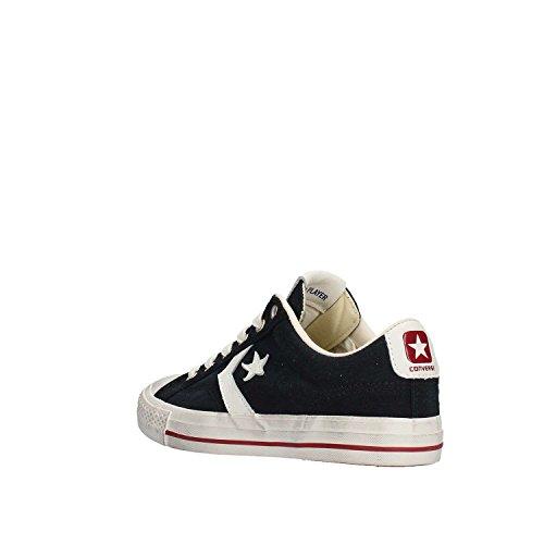 Converse Sneakers Uomo, Star Player 160922C/BLACK/EGRET/GARNET, in Tela, Colore Nero, Distressed Ox, Nuova Collezione Primavera Estate 2018 Nero