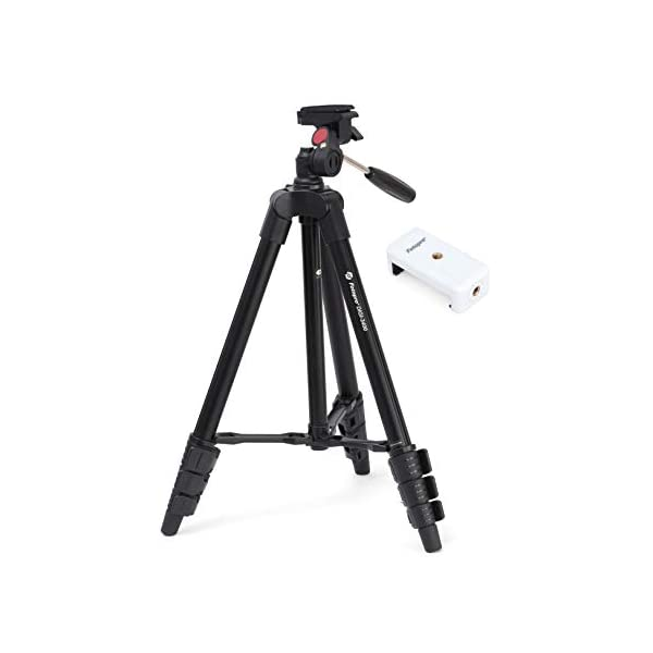 RetinaPix Fotopro DIGI-3400 4ft Universal Lightweight 3 Way Pan Head Tripod Stand with Mobile Holder and Carry Bag for All Smart Phones, GoPro, DSLR Cameras