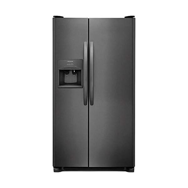 Frigidaire FFSS2615T 36 Inch Freestanding Side by Side Refrigerator with 25.5 cu. ft. Capacity, 2 Glass Shelves, External Water Dispenser, Crisper Drawer, Ice Maker