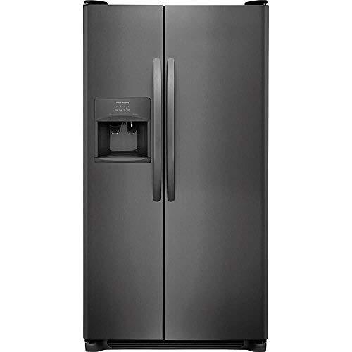 Frigidaire FFSS2615TD 36 Inch Freestanding Side by Side Refrigerator with 25.5 cu. ft. Capacity, in Black Stainless - By Side Steel Refrigerator Side Stainless Frigidaire