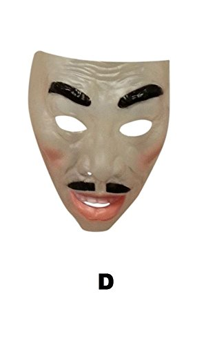 Male Transparent Mask,Smiling,Plastic,The Purge,Halloween Fancy Dress ()