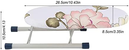 Mini Peony-Shape Foldable Sleeve Cuffs Collars Handling Ironing Board Compatible With Home/Traveling