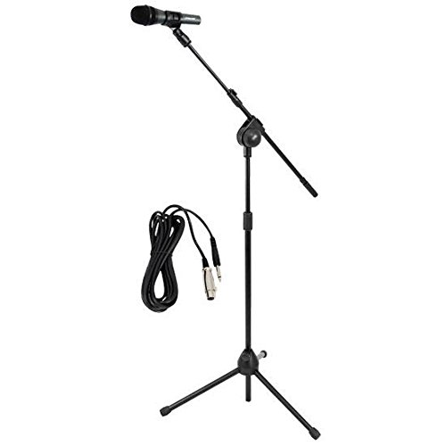 PYLE-PRO Dynamic Microphone and Tripod Stand -  Height Adjus