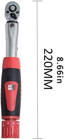 profectlen-US Mechanical Preset Torque Wrench Torque 2-24Nm 1//4 Bicycle Torque Set