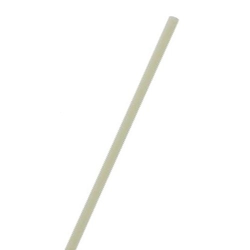 Acetal Fully Threaded Rod, White, 3/8