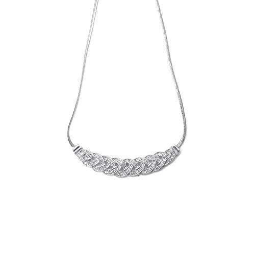 tfulvan 2019,100 Languages I Love You Birthday Mother's Day Diamond Necklace Pendant Jewelry Gift ()