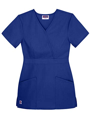 Sivvan Women's Scrubs Mock Wrap Top (Available in 15 Colors)