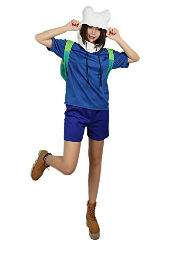 Finn Hoodie & Shorts Lovely Suit Cosplay Costume for Adventure M ()