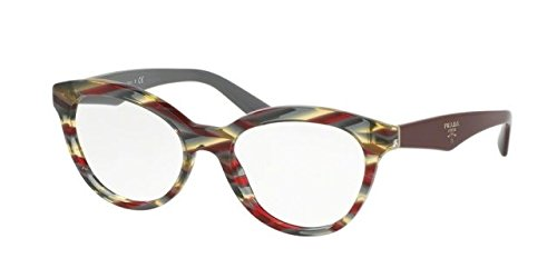 Prada Women's PR 11RV Eyeglasses Sheaves Bordeaux Green - Glasses Prada Ladies