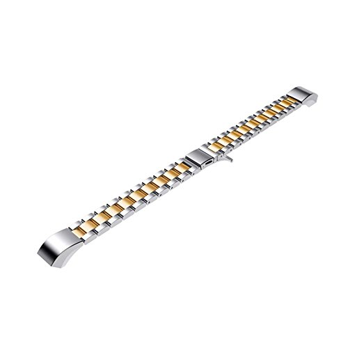 Pumsun ⭐️ Stainless Steel Replacement Metal Wristband Watch Band Strap for Fitbit ACE (Gold) by Pumsun_Watch (Image #4)