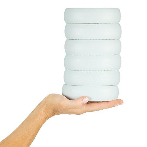Vive Lotion Applicator Replacement Pads (6 Pack) - Long Reach Handle Loofah Sponge Shower Scrubber for Self Back Application - Body Bath Wash Brush for Skin Cream, Suntan, Tanning, Aloe - Men, Women