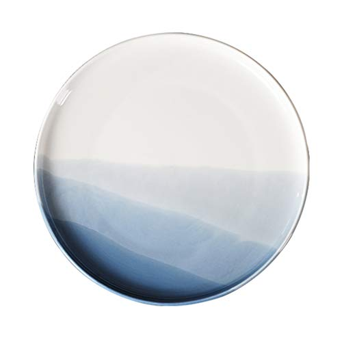 Price comparison product image Plate Plate European-style Ceramic Western Dish American-style Pizza Dish Round Plate 10 Inch 7.5 Inch White Gift (Color : White,  Size : 19.119.11.9cm)