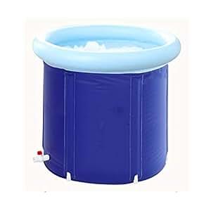 Bath Barrel Adult Bathing Bucket Bañera inflable para el hogar Thicken Large Tub Bañera plegable Plastic Ahorre espacio (Tamaño : 70 * 70)
