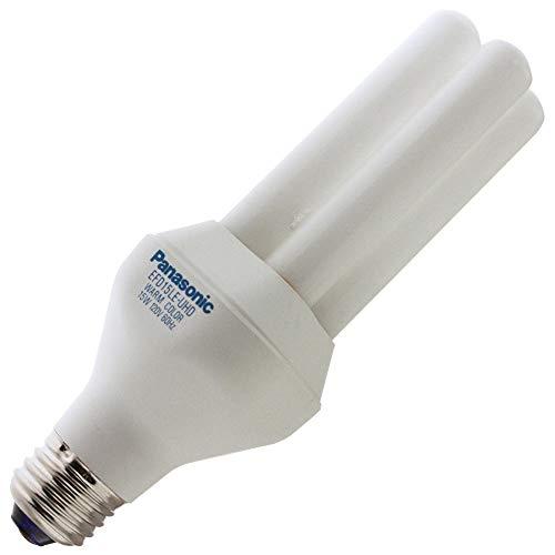 Panasonic EFD 15LE-UHD, 15 Watt, 2800K Warm Color Light, Medium Base, Compact Fluorescent Light Bulb - Panasonic Fluorescent Lamp