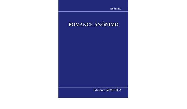 ANONIMO - Romance Anonimo para Guitarra (Martinez): Amazon.es ...