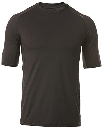 SODO Men's C3 Vented Workout Short-Sleeve Shirt-Black-Large