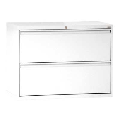 Sandusky Lee LF8F302-22 800 Series 2 Drawer Lateral File Cabinet, 19.25' Depth x 28.375' Height x 30' Width, White