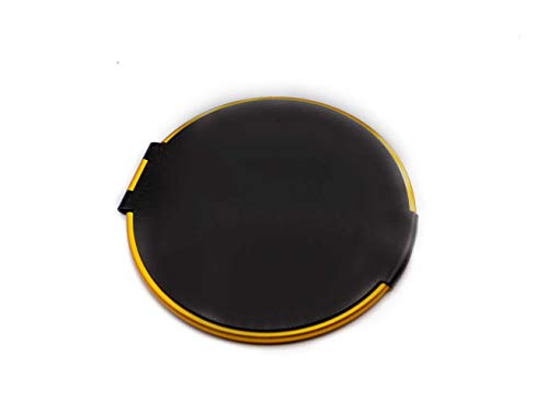 Ladies Pocket Mirror For Purse, Small Elegant Collectible Compact Mirrors - Perfect for Travel - 1x Trueview Vintage Handheld Makeup Mirror For All Your Personal Needs, Order Now! (Round, Black/Gold)