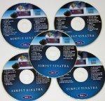 SIMPLY SINATRA SET Music Maestro CDG Karaoke 5 Disk Pack 80 Frank Songs