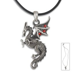 Falkor Pendant - Collectible Medallion Necklace Accessory - Falkor Dragon