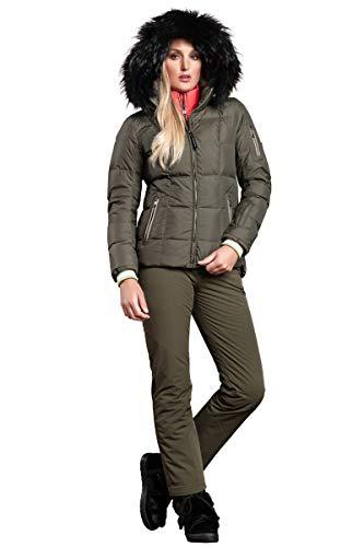 EM-EL Bogner Sport Geneve-D Ski Jacket with Bogner Print and Black Nurea Finnraccoon Hood Trim