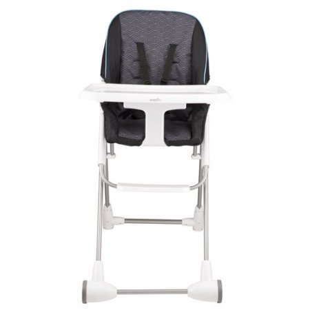 Evenflo Symmetry Flat Fold High Chair, Koi - Flat Koi