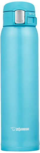 Wide Mouth Thermal Bottle - Zojirushi SM-SC60AV Stainless Mug, Turquoise Blue
