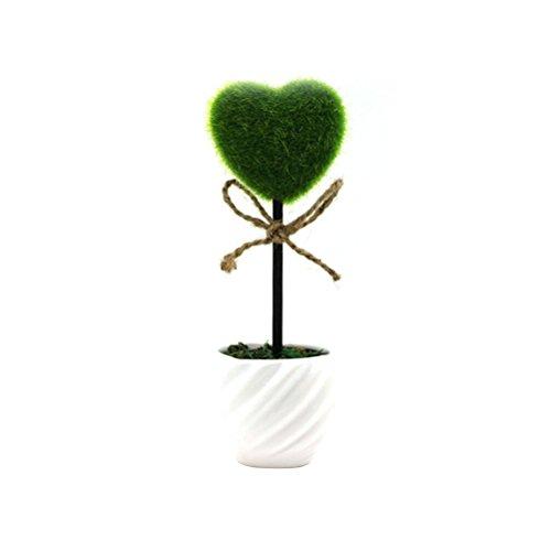 Mini Artificial Plants - Heart Shaped