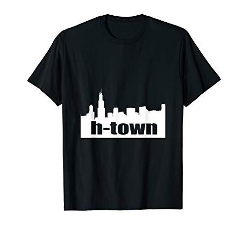 Houston Texas Skyline Shirt H-Town]()