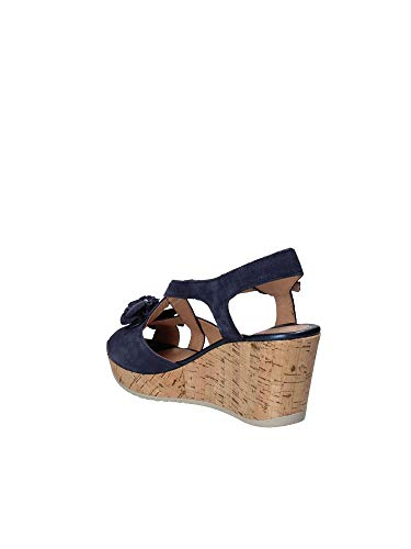 Blue 38 Stonefly Women 110270 Wedge Sandals gUUqSpI