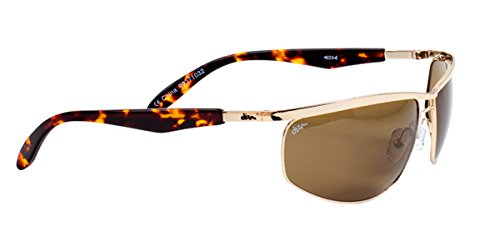 Dizm Eco Eyewear Gatsby+ Brown Sunglass, Gold, One - Sunglasses Dizm