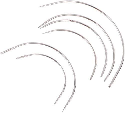 14 unidades de acolchado curvado grande ojo N/ähnadeln Set para reparaci/ón de cuero artesan/ía YiMusic 10 hilos de coser para vaqueros