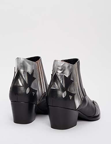 Donna Nero Stivaletti Find silver Black silver black 6zR5gfv