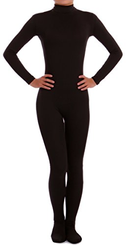 VSVO Lycra Spandex Zentai Unitard Catsuit for Adults and Children (XX-Large, Black) ()