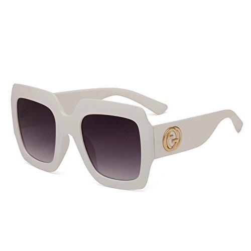 Montura Europeo Gafas Europeo Hombre Sol y RDJM Sol Estilo Trend y b Grande de Gafas para d Frog Mirror con y Mujer de ZnwqP0Tw