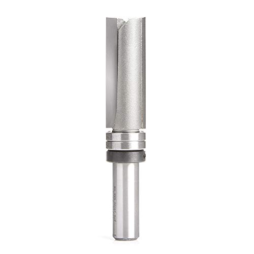 Amana Tool 45366 Carbide Tipped Flush Trim Plunge Template 3/4 D x 2 CH x 1/2 Inch SHK w/Upper Ball Bearing 2 Flute Router Bit