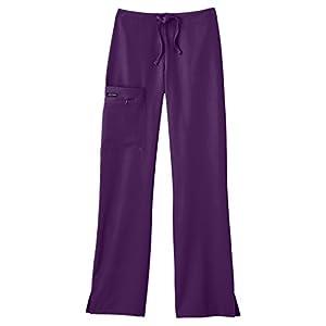 Classic Fit Collection by Jockey Women's Tri Blend Zipper Scrub Pants Large Petite Pewter