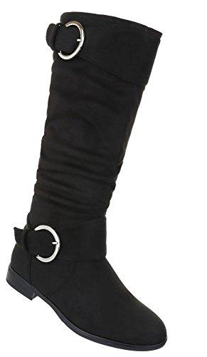 Used Damen 2 Strass Optik Schuhe Modell Stiefel Nr Schwarz Besetzte xqqw7Ig