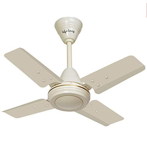 Lifelong Mini Glide Ceiling Fan, Ivory, 600mm  High Speed
