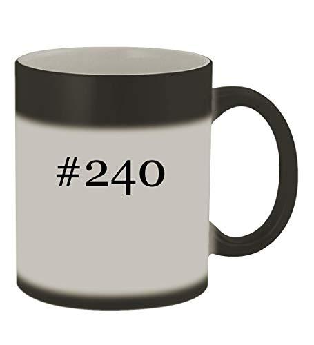 (#240-11oz Color Changing Hashtag Sturdy Ceramic Coffee Cup Mug, Matte Black)