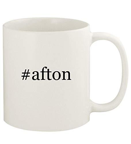 #afton - 11oz Hashtag Ceramic White Coffee Mug Cup, ()